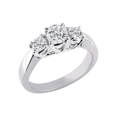 Купить Помолвочное кольцо с бриллиантами 0,60 карат, арт: 0001.