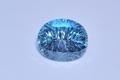 Топаз Лондон, овал 14х12мм, фантазийная огранка с алмазной нарезкой.