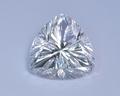 """Горный хрусталь,триллион 17мм, фантазийная огранка """"лотос""""с алмазной нарезкой"""