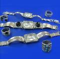 Коллекция серег,колье,колец,браслетов,кулонов,часов с натуральными и синтет. камнями и без камней.
