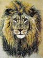 """микромозаика """"лев"""", 40х65 мм, римская мозаика. Щелкните по стрелке в углу, чтобы увеличить."""