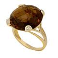 Кольцо с раухтопаз от ювелирного интернет - магазина goldandgem.ru