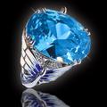 Кольцо из серебра 925 пробы с эмалью и цирконами