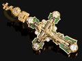 Крест с эмалью и бриллиантами