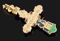 Крест с эмалью и бриллиантами (оборотная сторона)