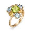Женское кольцо из золота 585 с полудрагоценными камнями