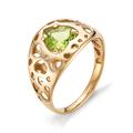 Женское кольцо из золота 585 с хризолитом