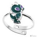 Серебряное кольцо Дракончик 060039 с бриллиантом - Ювелирный магазин Fleppy
