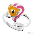 Серебряное кольцо Флаттершай 060040 с бриллиантом - Ювелирный магазин Fleppy