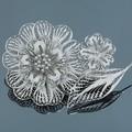 Серебряная брошь 8801035 Rd - Ювелирный магазин Fleppy
