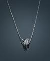 Серебряное колье MVC/1-Rd - Ювелирный магазин Fleppy