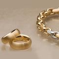 Кольца типа XXL и колье с двумя звеньями белого золота, 750, обрамленными бриллиантами.