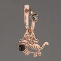 Серёжка тигрёнок, серебро 925*, позолота, янтарь. Щелкните по стрелке в углу, чтобы увеличить.