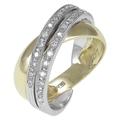 Золотое кольцо 22 бриллианта 0.19 карата средний вес 5.21 гр.