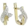 Золотые серьги с бриллиантами средний вес 2.76 гр. артикул 513AB3-32