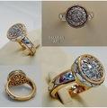 Белое и жёлтое золото 585, бриллианты.