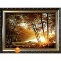 """Картина из янтаря """"Восход солнца"""". Щелкните по стрелке в углу, чтобы увеличить."""