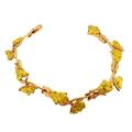 Нежный женский браслет из золота 585 пробы украшен природными самородками золота 860 пробы.. Щелкните по стрелке в углу, чтобы увеличить.