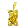 Стильный женский кулон из желтого золота 585пробы со вставками из природного самородка и бриллиантов. Щелкните по стрелке в углу, чтобы увеличить.
