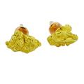 Большой выбор золотых сережек-гвоздиков со вставками из природных самородков золота высшей пробы.