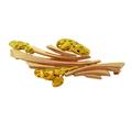 Красивая женская брошь из золота 585 пробы со вставками из природных золотых самородков высшей пробы