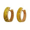 стильные женские серьги-кольца из золота 585 пробы с магаданскими самородками золота высшей пробы.