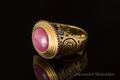 золото 750 пробы, звезчатый рубин, рубины, горячая эмаль