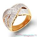 Золотые кольца с цирконами