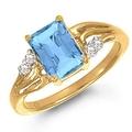 Ювелирные украшения, кольцо с топазом