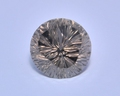 Дымчатый кварц, круг 16,5мм, окранка с алмазной нарезкой