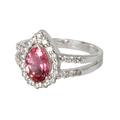 Золото, турмалин розовый, бриллианты