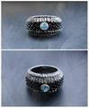 топаз, кожа ската, стихия - воздух, авторское кольцо