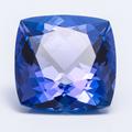 Танзанит насыщенного синего цвета