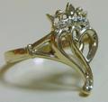 кольцо,золото 585*,бриллианты
