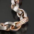 """Колье коллекции """"Лед и пламя"""", сочетание прохладного белого золота и теплого розового, 750."""