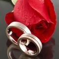 """Из коллекции """"Лед и пламя"""", кольца из белого золота с линией розового, 750."""