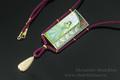 авторская работа Шатохин Александр подвес Оранжереи Жозефины горячая эмаль Бразильский опал золо750